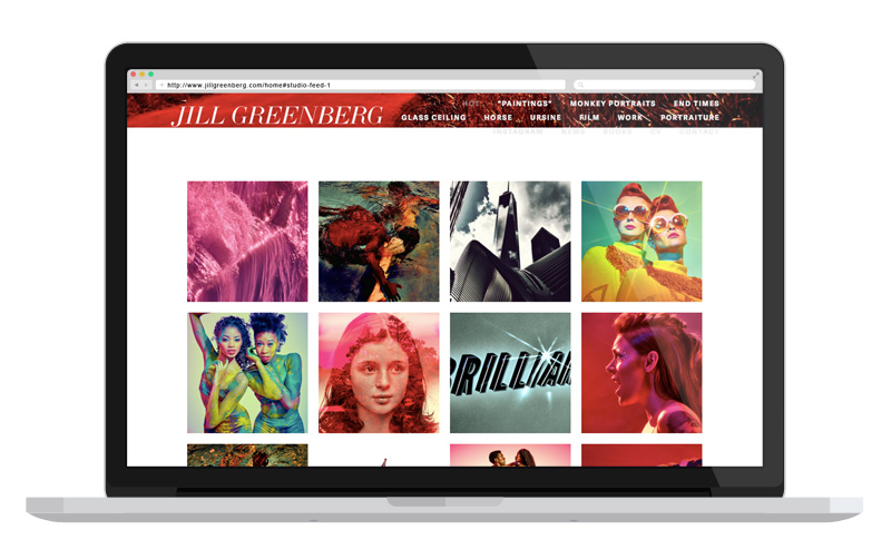 How to plan the content for your website –types of pages | Jill Greenberg photography portfolio page