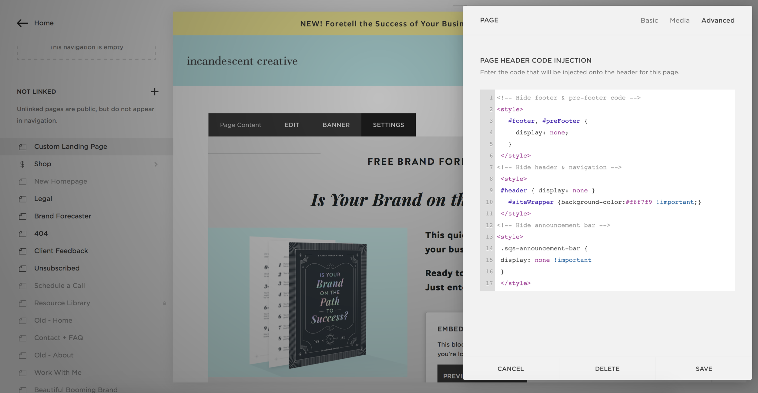 Squarespace Hack: How to Create a Custom Landing Page in 3
