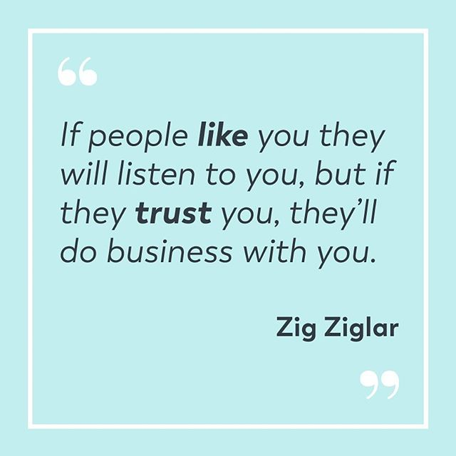 Today's #realtalk – Trust is 🔑 to the success of your business. So how do you build trust quickly? Here are six ways: 1) Do business with integrity 2) Share social proof 3) Be yourself 4) Present your brand consistently 5) Never underestimate good design 6) Share helpful & relevant content. Head over to my blog (link in profile) to read the full post. I include action steps for each one so you can start building trust + growing your business, stat.