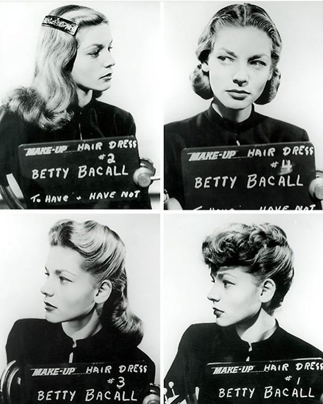 Love this makeup test that looks like a mugshot of silver screen ⭐️ Lauren Bacall. When working on brand strategies, I like to ask my clients to pick a famous person that best represents their brand – it's a fun way to personify your biz! I chose Lauren Bacall for my brand because of her elegance, wit, and overall badassery (that's a word, right?) 😁 Tell me, who best represents YOUR biz??