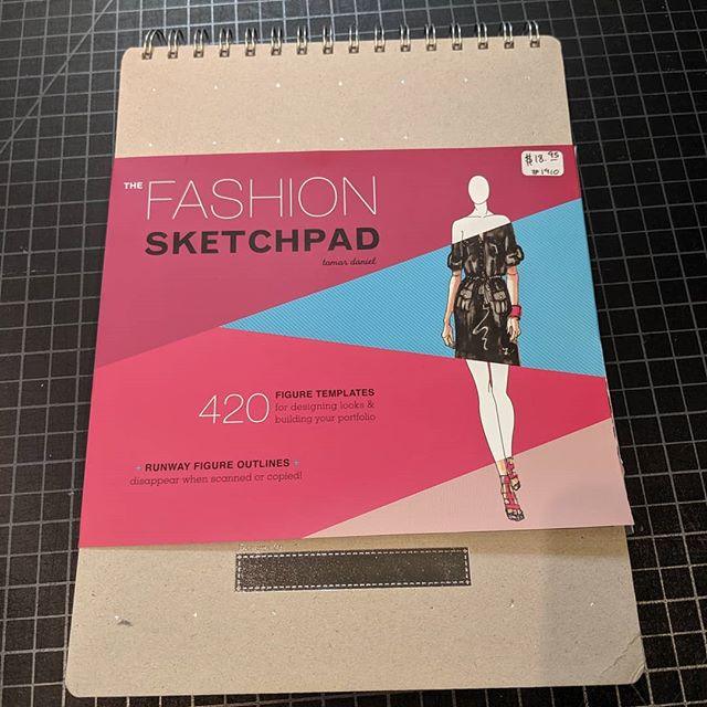 We carry these full sized fashion sketch pads that make a great gift for the aspiring fashion designer in your life.  #tissufinefabrics #sewing #fashion #localdesigner #utahdesigner #utahfashion #fashiondesign #fashiondesigner #supportlocal #buylocalfirst #localbusiness #smallbusiness #slc #saltlakecity #slcfashion