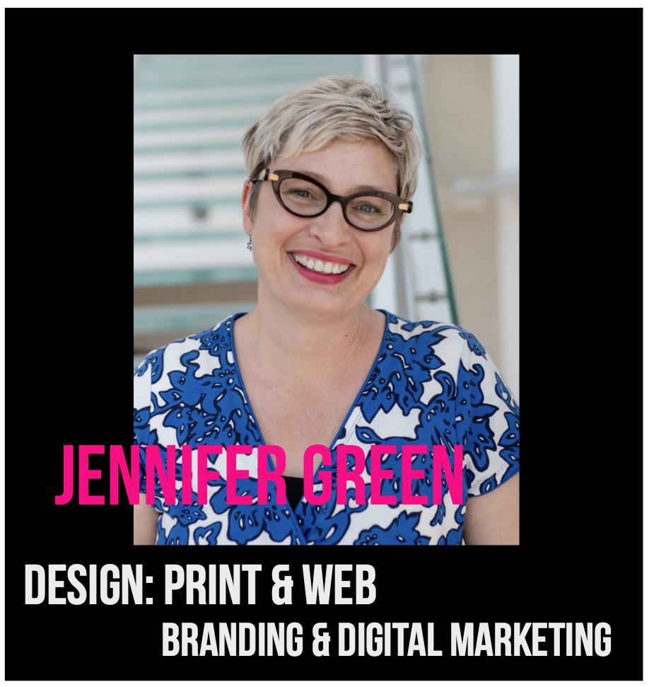 THE JILLS OF ALL TRADES™ Jennifer Green Designer: Print, Web, Branding and Digital Marketing