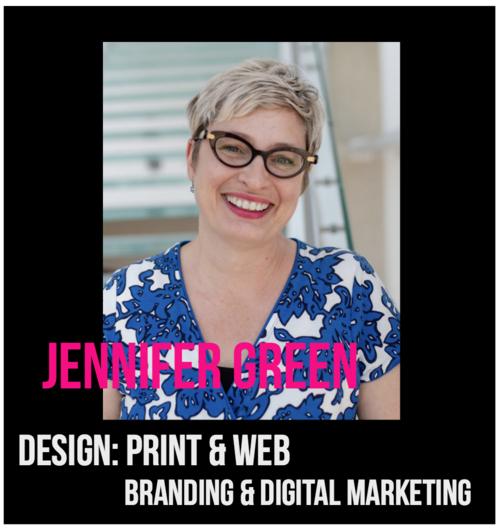 THE JILLS OF ALL TRADES™ member, Jennifer Green Print & Web Designer shu shu design Branding and Digital Marketing