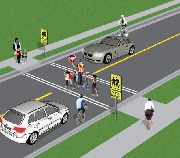 School crossing diagram