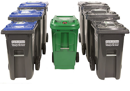 IMAGES OF NEW RECYCLING, ORGANIC AND GARBAGE BINS VIA THE REGION OF PEEL