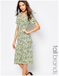 ASOS  Influence Tall Culotte Jumpsuit With Knot Front, $41.15