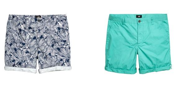 H&M  Slim fit cotton shorts, $19.99