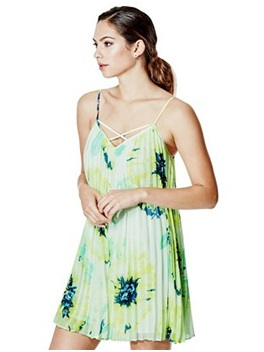G  UESS Temperly Pleated Dress, $118