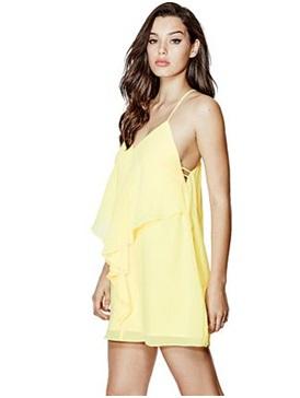GUESS  Sadie Sleeveless Ruffle Dress, $108