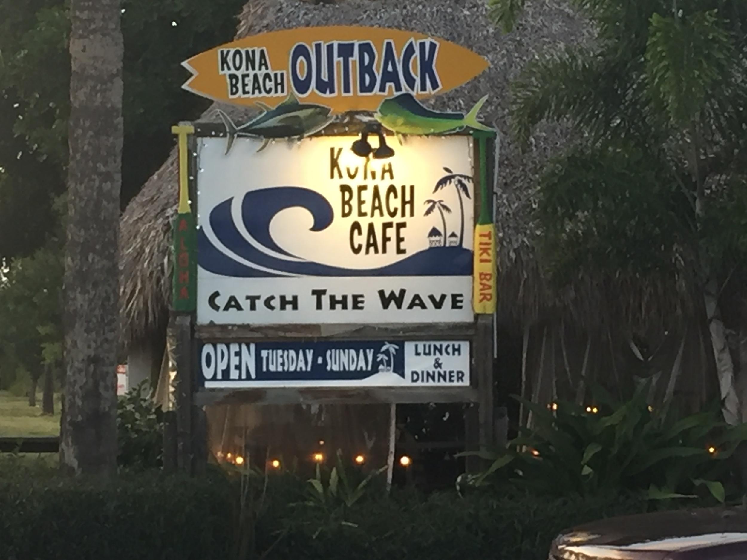 Martin Kona Beach cafe.JPG