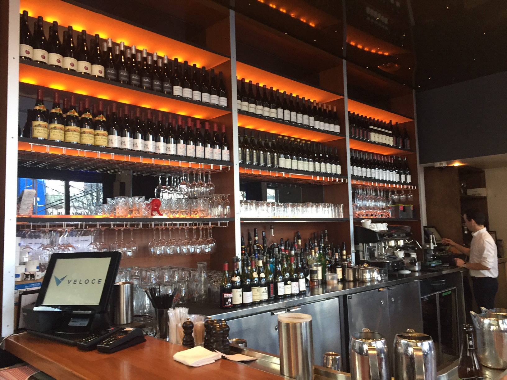 The vast bar at Balmoral Bistro