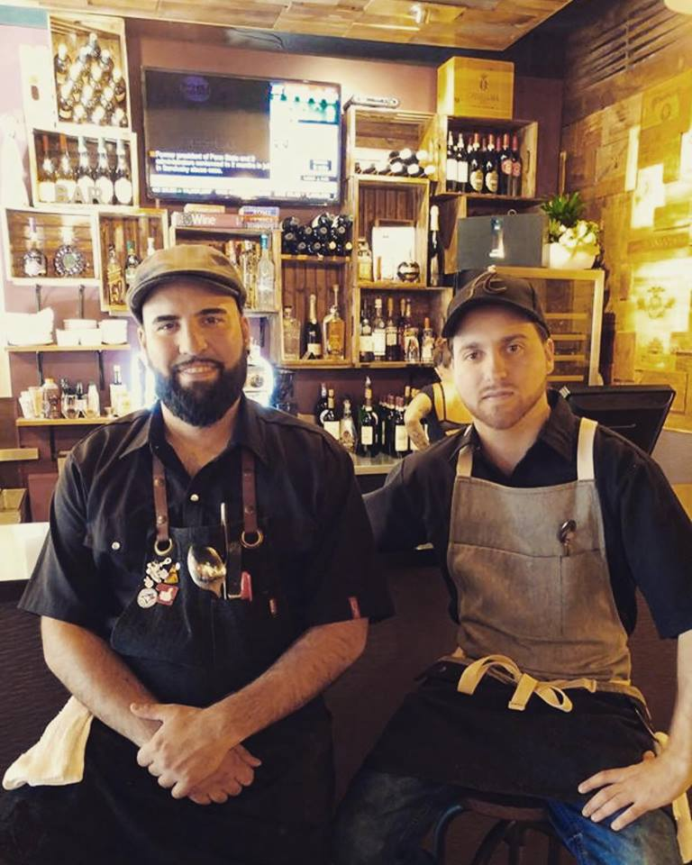 very proud owners and chefs Frank Mazzonetto and Anthony Maniccia