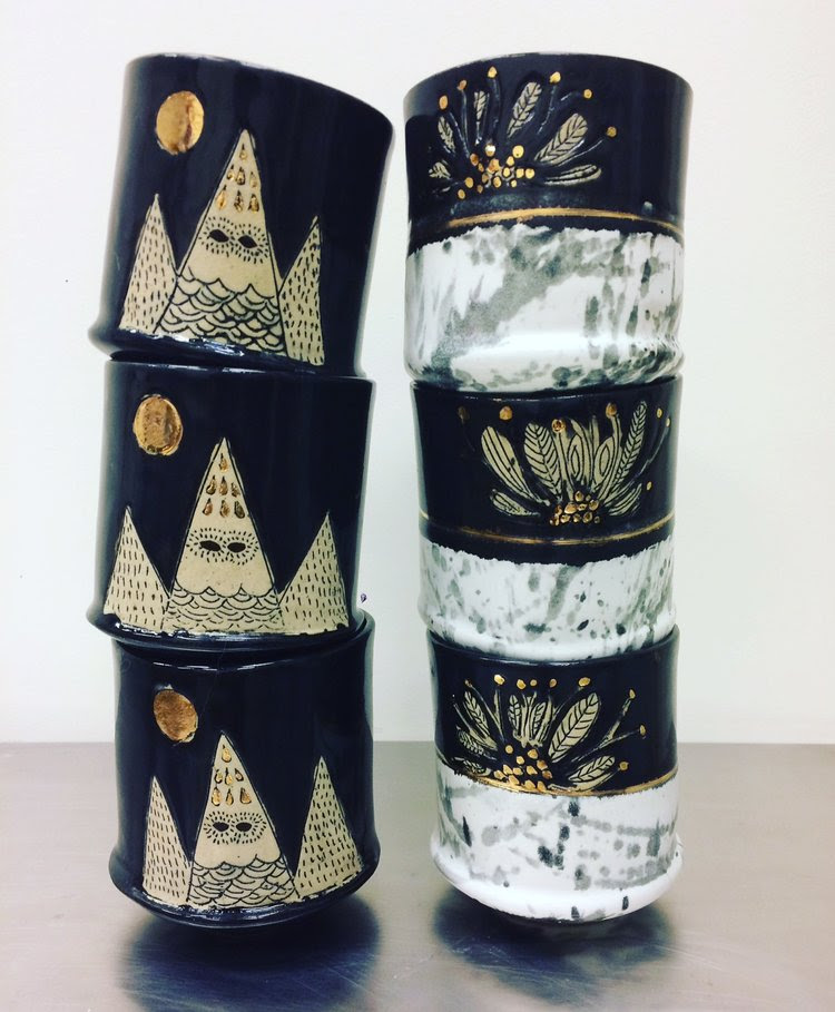 Into the WildThese gorgeous hand-thrown mugs by Kristy Wilson Ceramics are sure to impress anyone on your gift list!