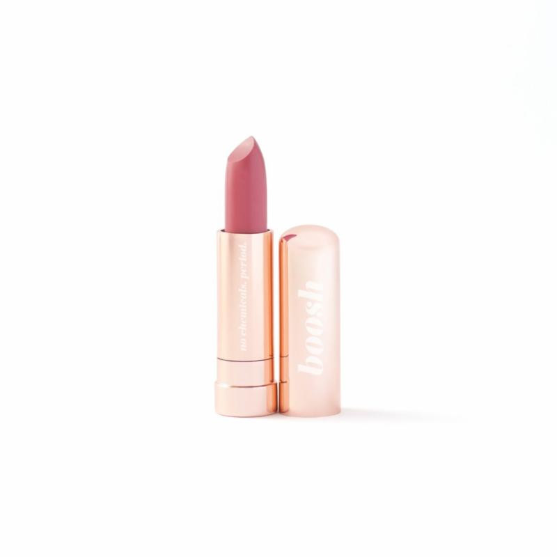 Lips ServiceScore points by gifting a Boosh lipstick in these stunning, limited edition rose gold tubes, made with no chemicals. Period. Lipstick, various colours, $26.