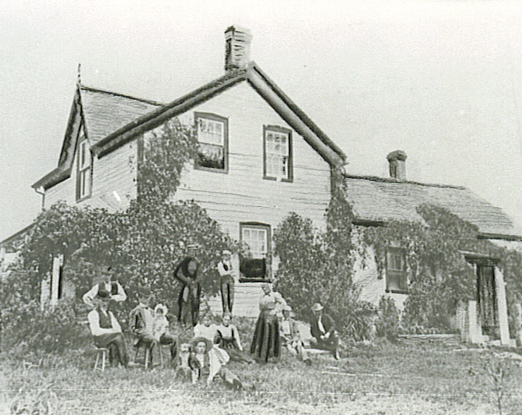 Duck Family and Homestead, Lakeview, c1900