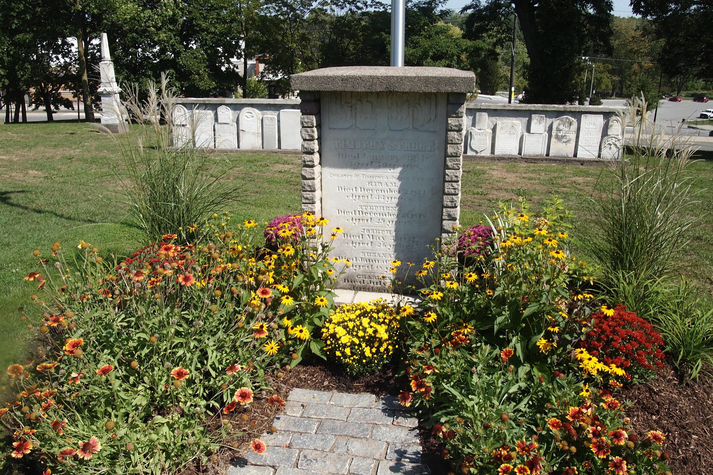 Timothy Street gravesite - Streetsville Memorial Cemetery.