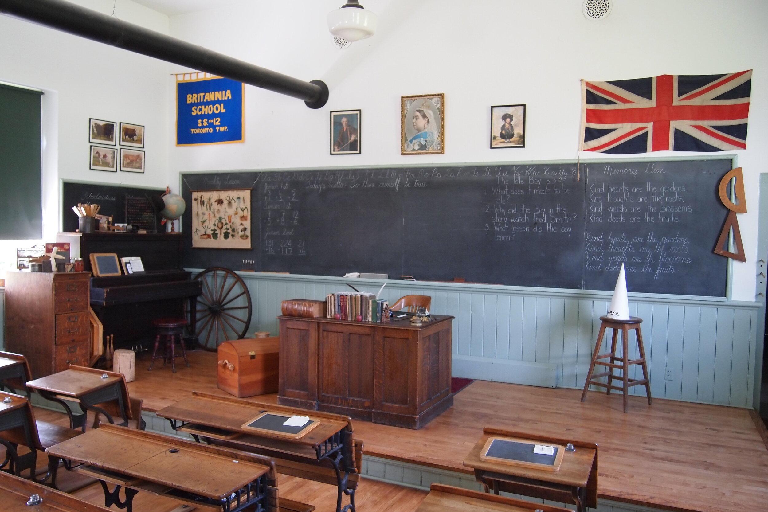Interiror of the Britannia Schoolhouse.JPG