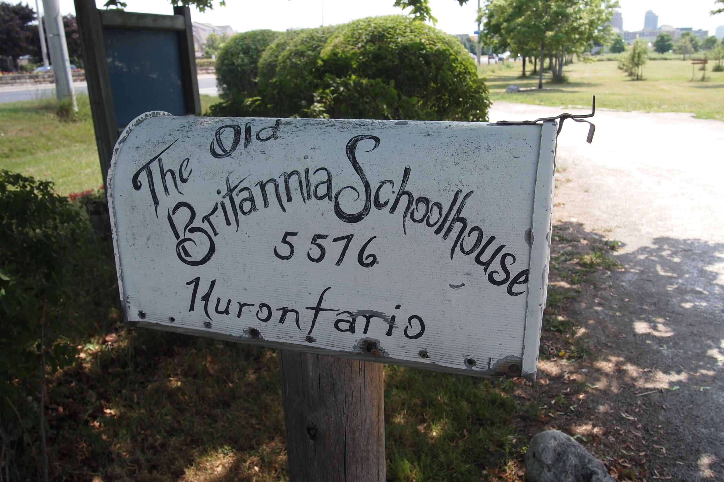Britannia Schoolhouse Mailbox.JPG