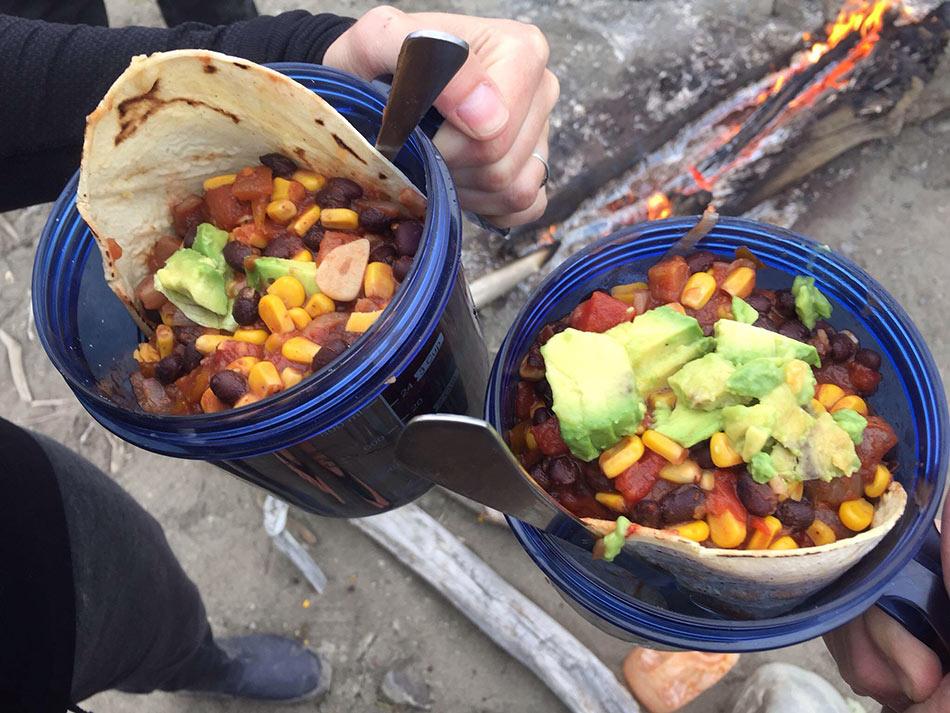 Wilderness gourmet cooking