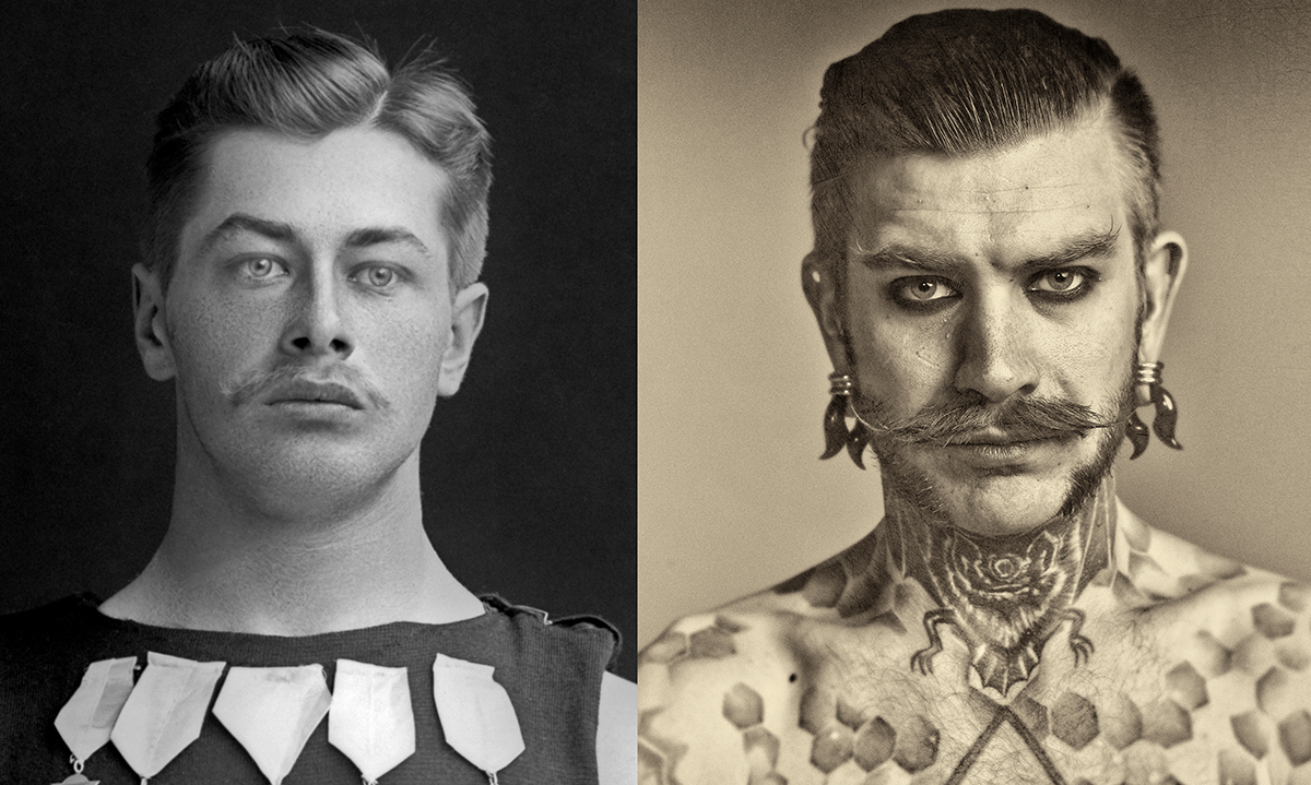2018 Parallel Times, Atelieri O. Haapala's images shown side by side with pictures by Victor Barsokevitsch (1863-1933)