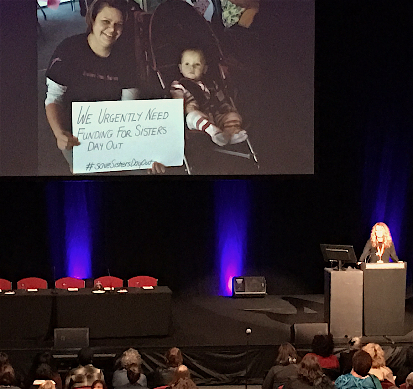 CEO of the Aboriginal Family Violence Prevention and Legal Service, Antoinette Braybrook, giving her keynote address.