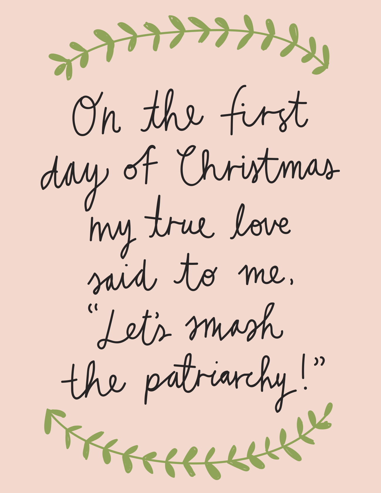 Christmas Card - The First Day Of