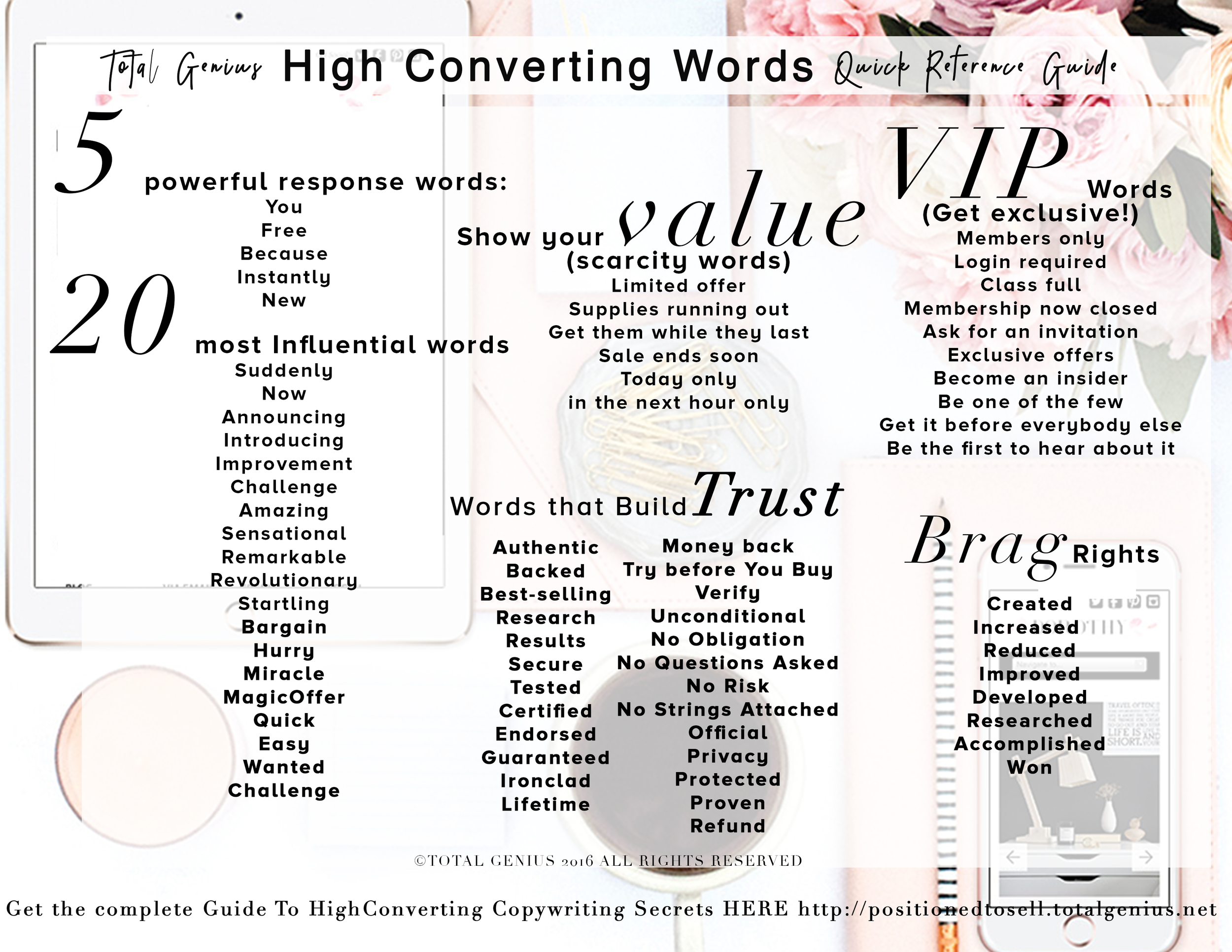 Total Genius Words Guide