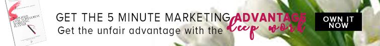 5 minute marketing planner