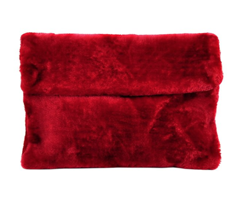 Ruby Faux Fur Envelope Bag