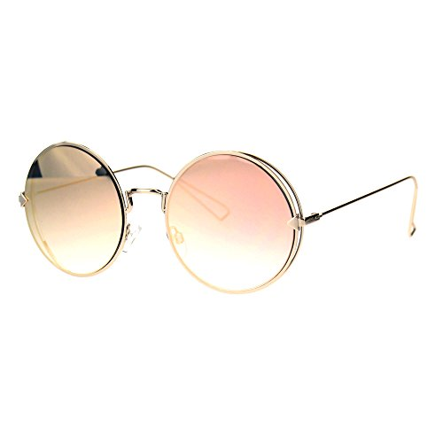 Mirror rose colored sunglasses