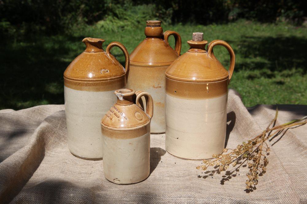 Stoneware Flagons & Jars