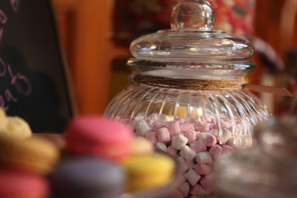 Ribbed Glass Jars