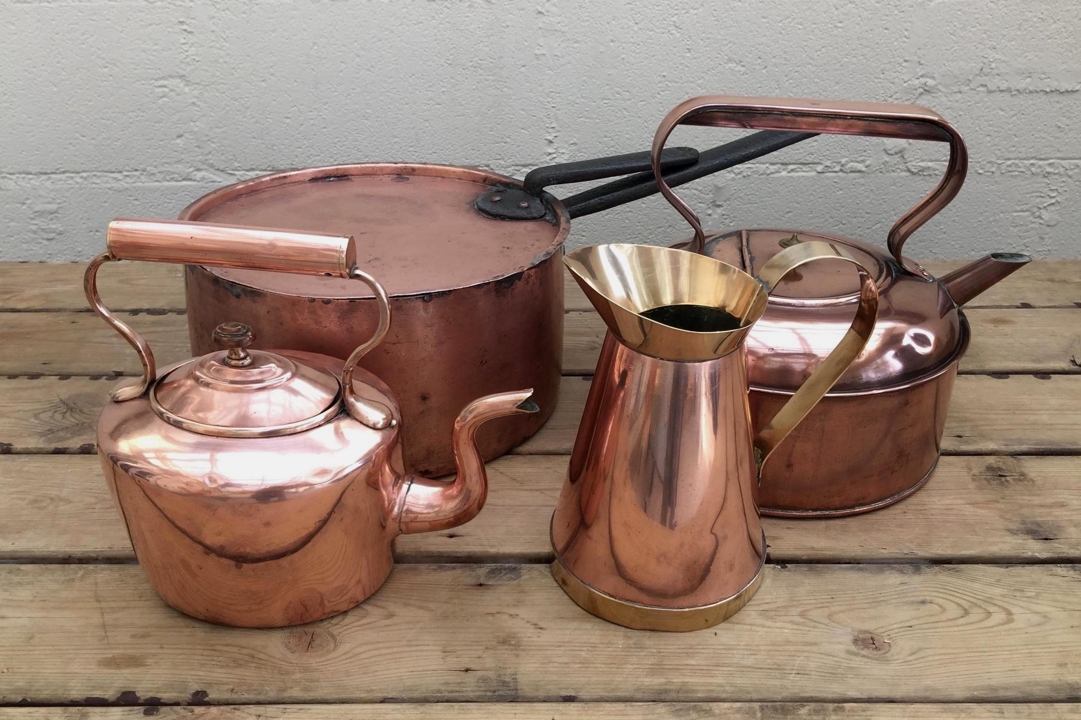 Copper Kettles, Jugs & Pans
