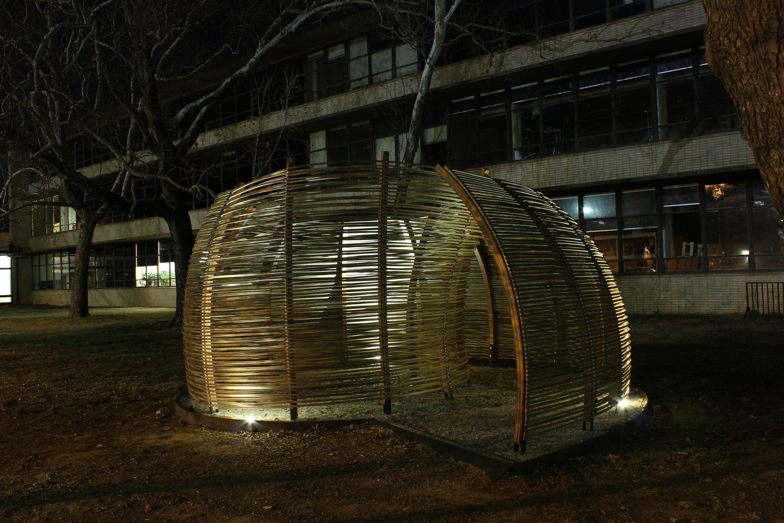 2012. Collaboration with Adam Crosson. cedar, poplar, steel, epoxy and varnish.