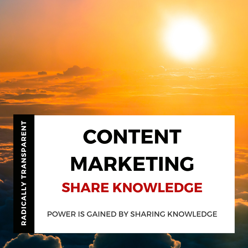 Share knowledge with content marketing