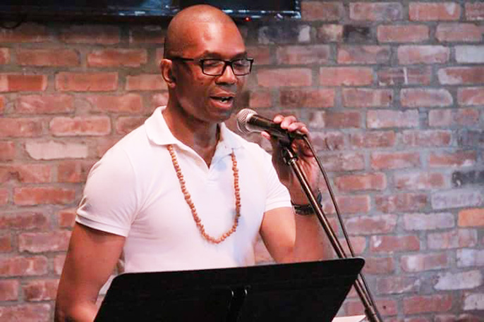 Reading from  Jazz Moon  at the LIC Reading Series, June 14, 2016, Long Island City, Queens