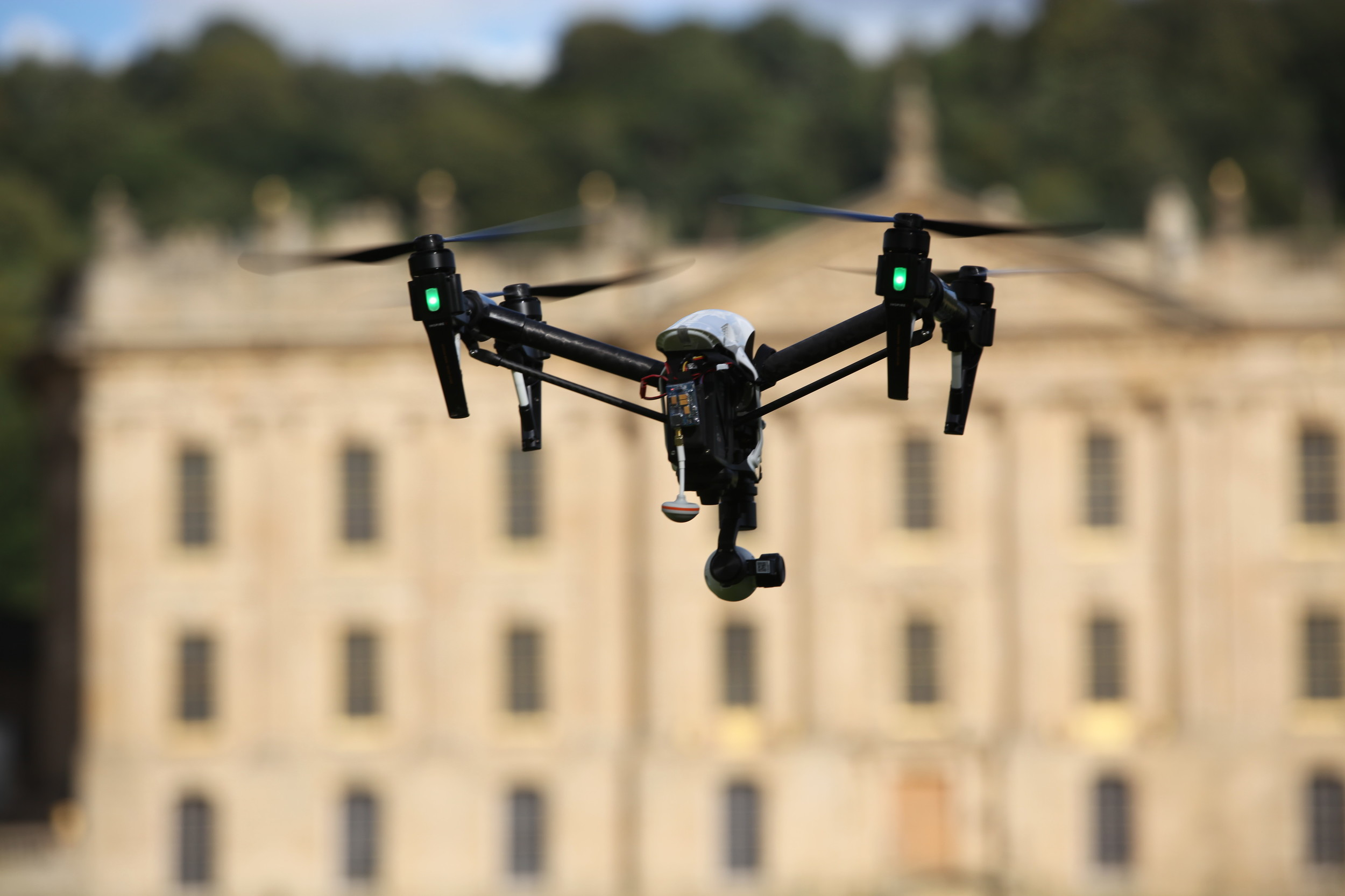 Pro bono aerial filming at Chatsworth