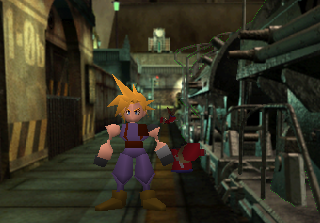 Cloud, the cross-eyed mouthless, messy haired, tiny elbowed, sword wielding hero we all deserve.