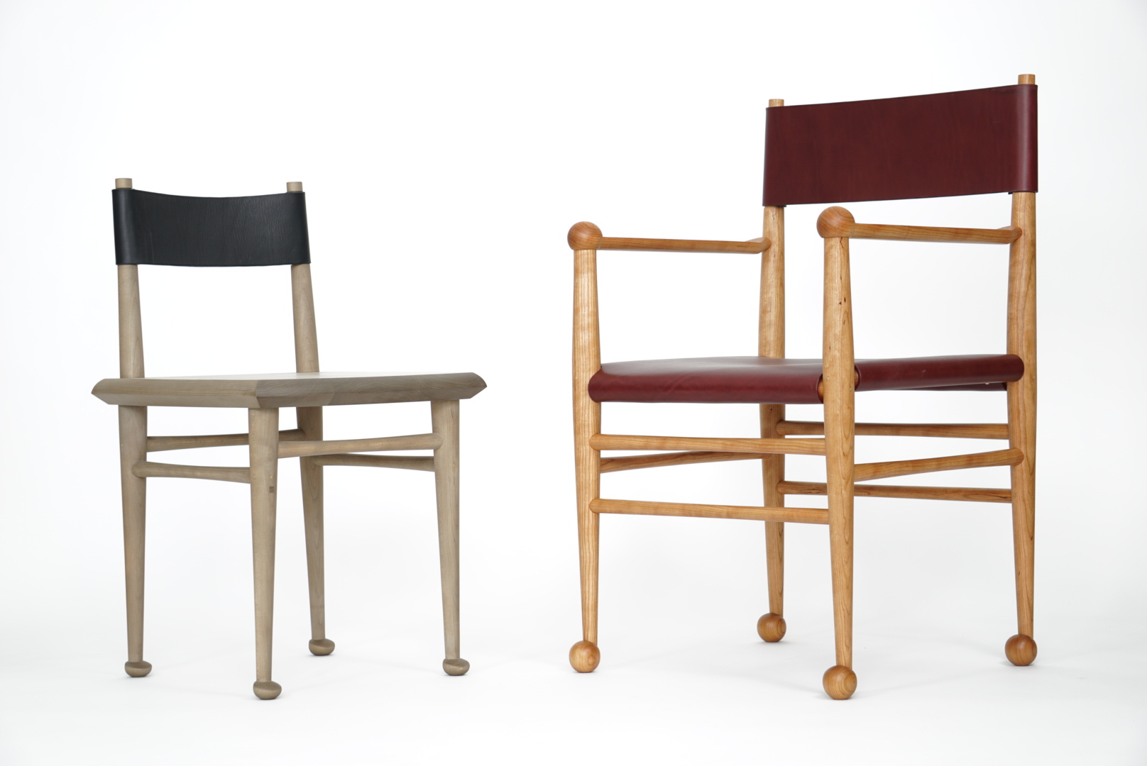 Dining Chair And Ball Foot Chair Duo