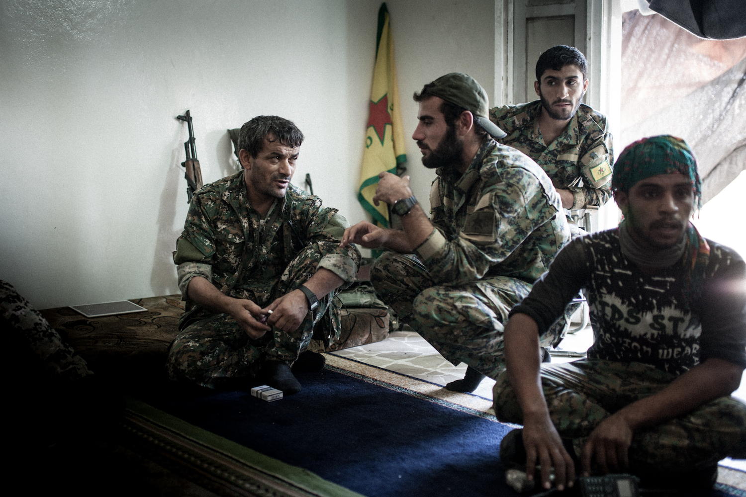 YPG fighters discuss their next steps