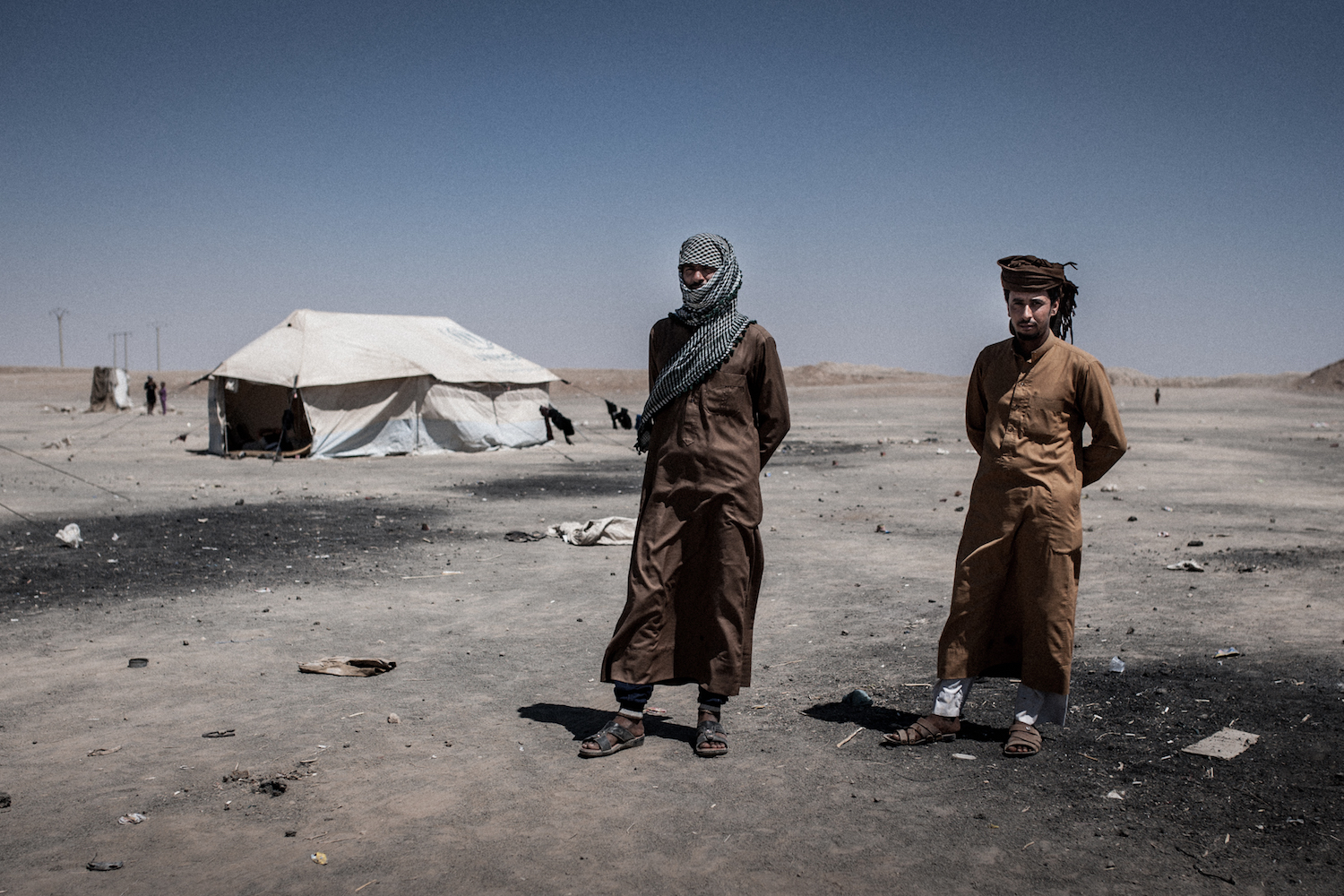 Refugees in the Syrian desert