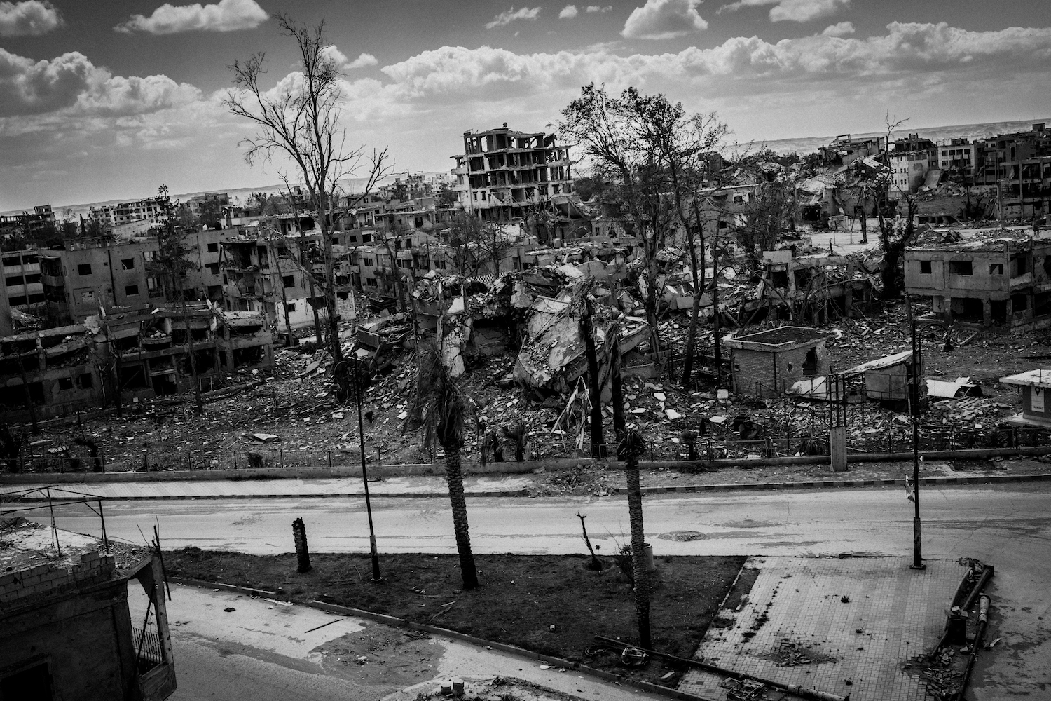 The ruins of Raqqa. According to the UN, 80 percent of the city are uninhabitable