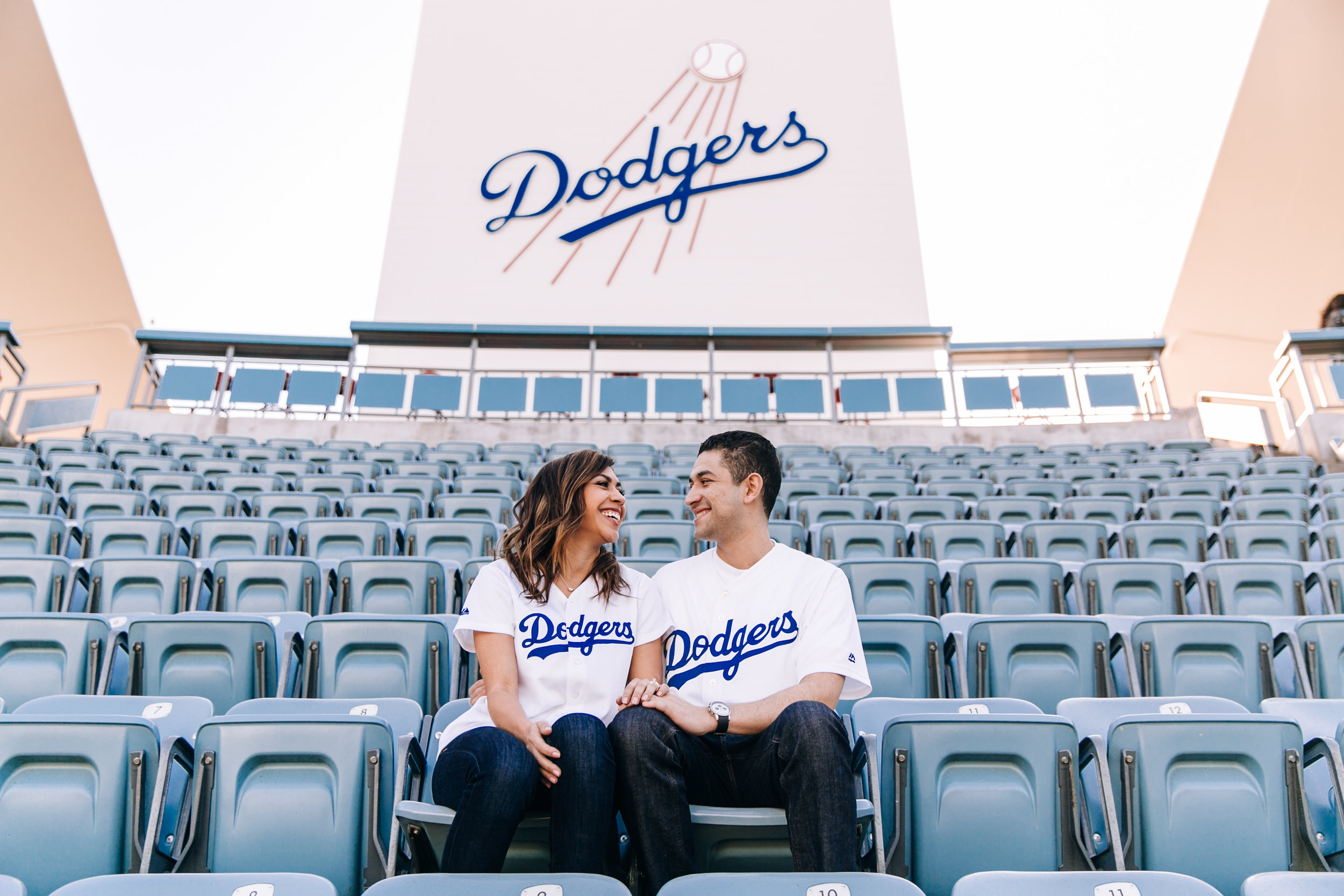 LA engagement photographer, Southern California engagement photographer, Los Angeles engagement photographer, SoCal engagement photographer, Dodger Stadium engagement session, Dodgers engagement