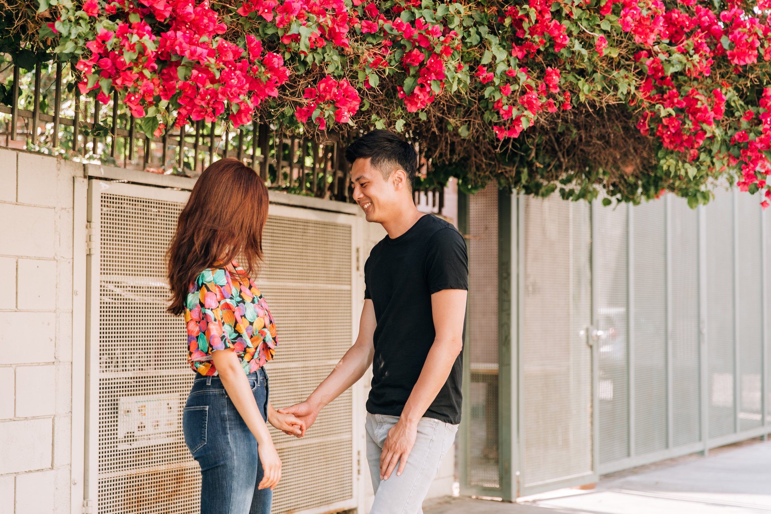 DTLA engagement photographer, SoCal engagement photographer, Southern California engagement photographer, Los Angeles engagement photographer, DTLA Arts district engagement shoot, DTLA engagement