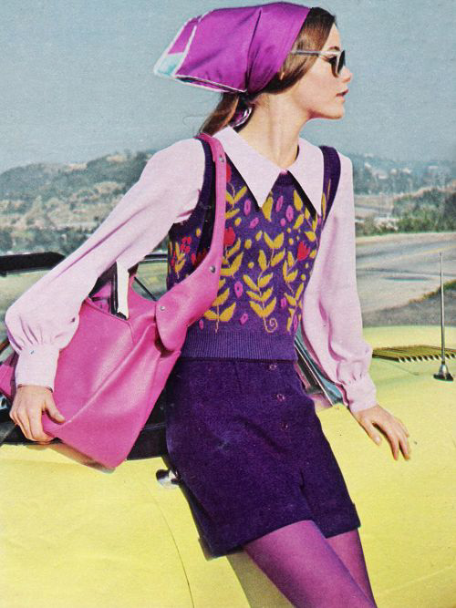 Purple and pink in a sophisticated layering of separates with a young, alive feeling