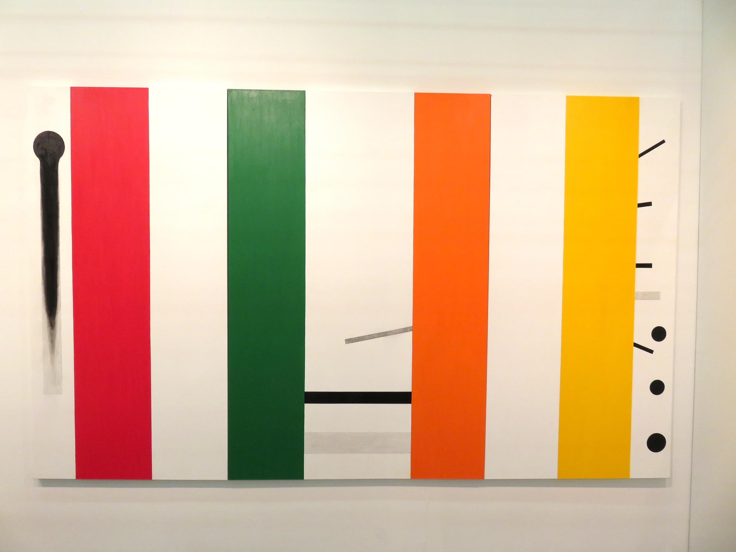 Above: Installation view,  Osvaldo Mariscotti: Il nuovo Suprematismo visivo , Upsilon Gallery, New York, 2016.