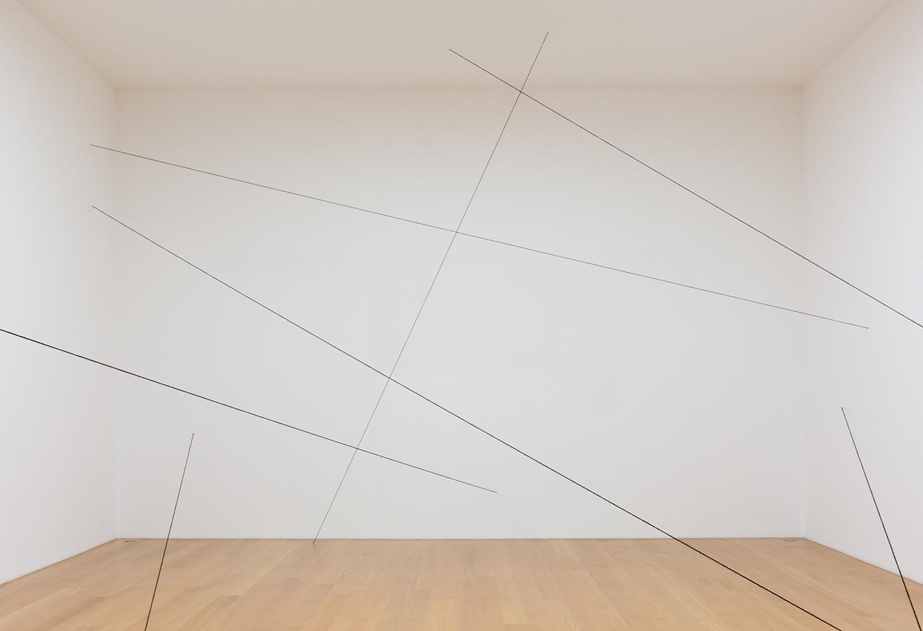 Above: Installation view,  Prints: Donald Judd and Fred Sandback , Upsilon Gallery, New York, 2016.
