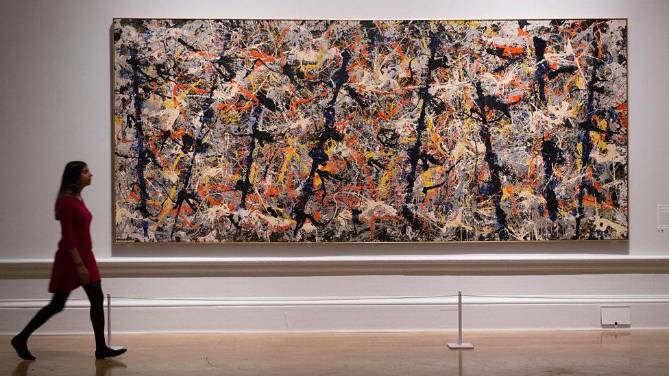Jackson Pollock, Blue Poles, 1952, at the Royal Academy © The Pollock-Krasner Foundation/ARS, NY and DACS, London 2016 (Photo: David Parry)