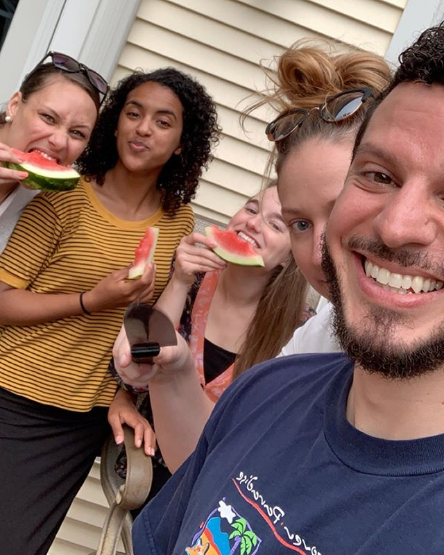 We ❤️ #WeekendsAtNova . . Young Adult Cookout tonight with watermelon, cornhole & friends = WINNING! 🏆🏆🍉🍉🍉🏆🏆 #thenovachurch #youngadults #hyphens #dcmetro #alexandria #arlington #churchfam