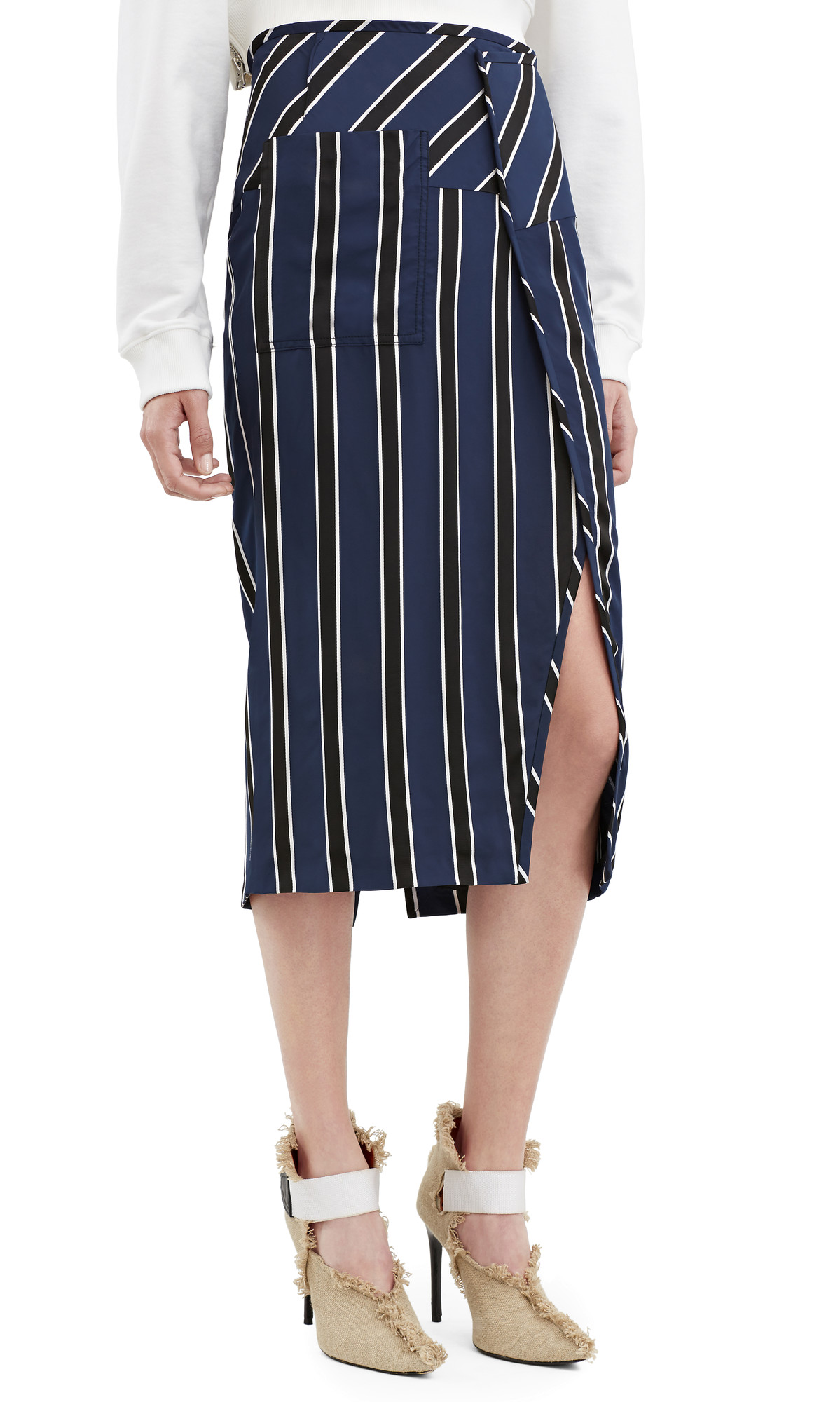 Acne Stripe Skirt